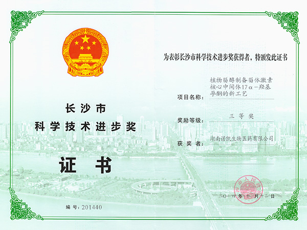 Award for scientific and technological advancement of Changsha
